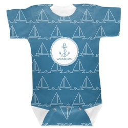 Rope Sail Boats Baby Bodysuit (Personalized)