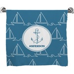 Rope Sail Boats Full Print Bath Towel (Personalized)