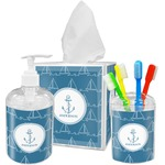 Rope Sail Boats Bathroom Accessories Set (Personalized)