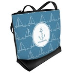 Rope Sail Boats Beach Tote Bag (Personalized)