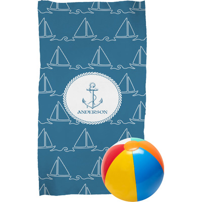 Rope Sail Boats Beach Towel (Personalized)