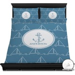 Rope Sail Boats Duvet Cover Set (Personalized)