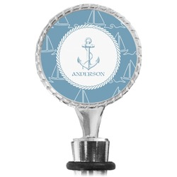 Rope Sail Boats Wine Bottle Stopper (Personalized)