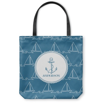 Rope Sail Boats Canvas Tote Bag (Personalized)