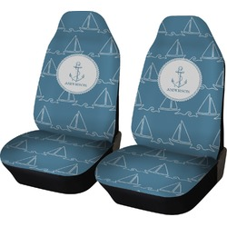 Rope Sail Boats Car Seat Covers (Set of Two) (Personalized)