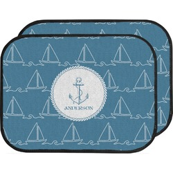 Rope Sail Boats Car Floor Mats (Back Seat) (Personalized)