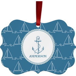 Rope Sail Boats Ornament (Personalized)