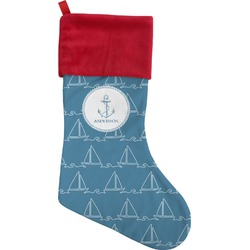 Rope Sail Boats Christmas Stocking (Personalized)