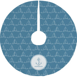 Rope Sail Boats Tree Skirt (Personalized)