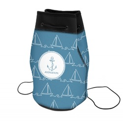 Rope Sail Boats Neoprene Drawstring Backpack (Personalized)