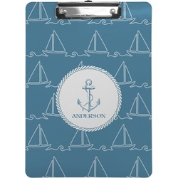 Rope Sail Boats Clipboard (Personalized)