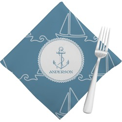 Rope Sail Boats Napkins (Set of 4) (Personalized)