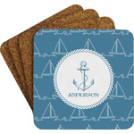 Rope Sail Boats Coaster Set w/ Stand (Personalized)