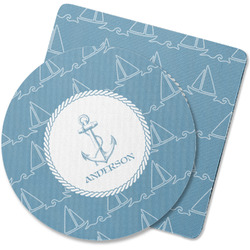 Rope Sail Boats Rubber Backed Coaster (Personalized)