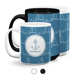 Rope Sail Boats Coffee Mugs (Personalized)