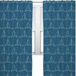 Rope Sail Boats Curtains (2 Panels Per Set) (Personalized)