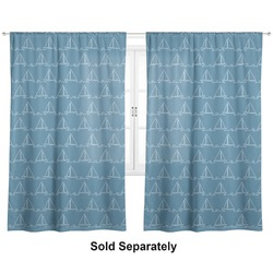 "Rope Sail Boats Curtains - 20""x84"" Panels - Lined (2 Panels Per Set) (Personalized)"