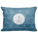 "Rope Sail Boats Decorative Baby Pillowcase - 16""x12"" (Personalized)"