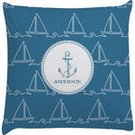 Rope Sail Boats Decorative Pillow Case (Personalized)