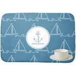 Rope Sail Boats Dish Drying Mat (Personalized)