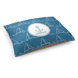 Rope Sail Boats Dog Pillow Bed (Personalized)