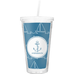 Rope Sail Boats Double Wall Tumbler with Straw (Personalized)