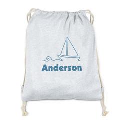 Rope Sail Boats Drawstring Backpack - Sweatshirt Fleece (Personalized)