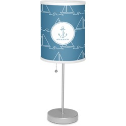 """Rope Sail Boats 7"""" Drum Lamp with Shade (Personalized)"""