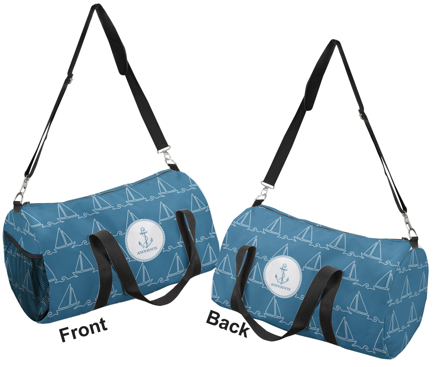 YouCustomizeIt Linked Rope Duffel Bag Personalized