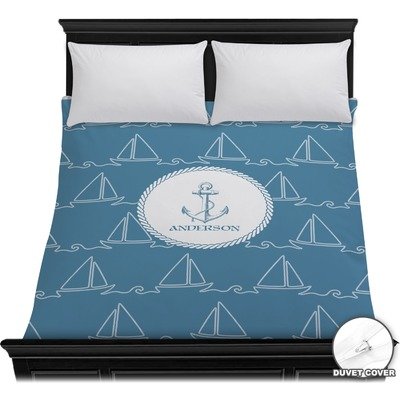 Rope Sail Boats Duvet Cover (Personalized)