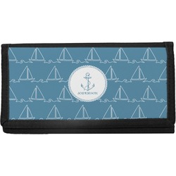Rope Sail Boats Canvas Checkbook Cover (Personalized)