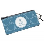 Rope Sail Boats Genuine Leather Eyeglass Case (Personalized)