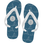 Rope Sail Boats Flip Flops (Personalized)