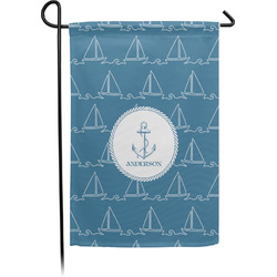 Rope Sail Boats Garden Flag - Single or Double Sided (Personalized)