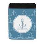 Rope Sail Boats Genuine Leather Money Clip (Personalized)