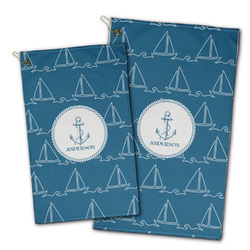 Rope Sail Boats Golf Towel - Full Print w/ Name or Text