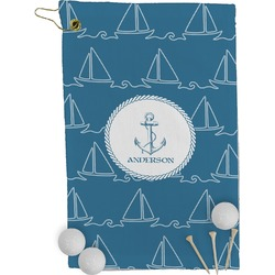 Rope Sail Boats Golf Towel - Full Print (Personalized)