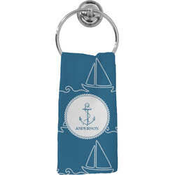 Rope Sail Boats Hand Towel - Full Print (Personalized)