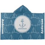 Rope Sail Boats Kids Hooded Towel (Personalized)