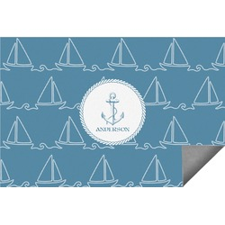 Rope Sail Boats Indoor / Outdoor Rug (Personalized)