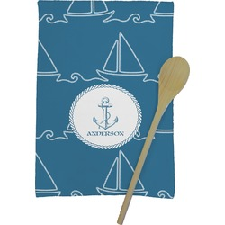 Rope Sail Boats Kitchen Towel - Full Print (Personalized)
