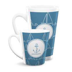 Rope Sail Boats Latte Mug (Personalized)