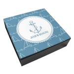 Rope Sail Boats Leatherette Keepsake Box - 3 Sizes (Personalized)