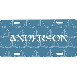 Rope Sail Boats Front License Plate (Personalized)