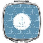 Rope Sail Boats Compact Makeup Mirror (Personalized)