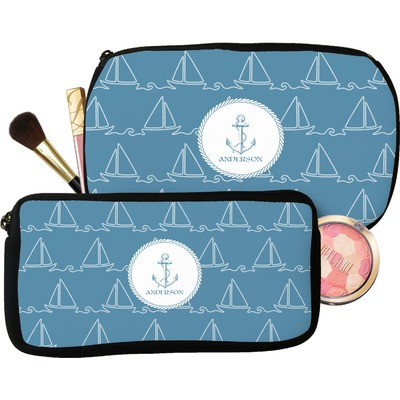 Rope Sail Boats Makeup / Cosmetic Bag (Personalized)
