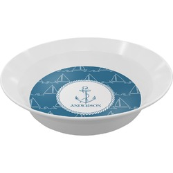 Rope Sail Boats Melamine Bowl - 12 oz (Personalized)