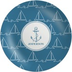Rope Sail Boats Melamine Plate (Personalized)