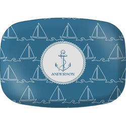 Rope Sail Boats Melamine Platter (Personalized)