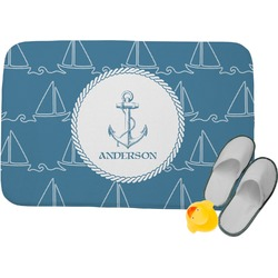 "Rope Sail Boats Memory Foam Bath Mat - 24""x17"" (Personalized)"